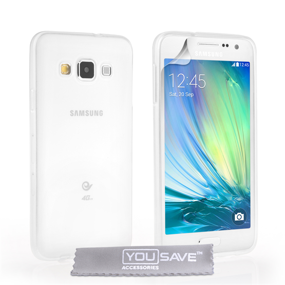 Yousave Accessories Samsung Galaxy A3 0.6mm Ultra-Thin Clear Gel Case