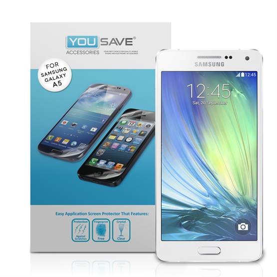 Yousave Accessories Samsung Galaxy A5 Screen Protectors x5