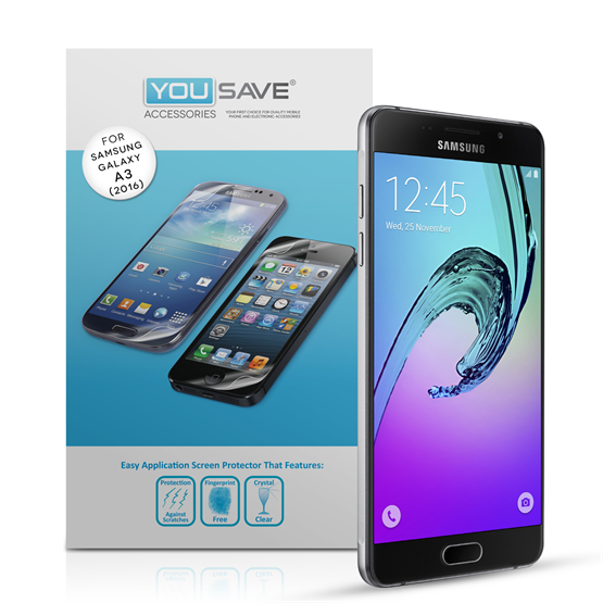 Yousave Samsung Galaxy A3 (2016) Screen Protector (5 Pack)