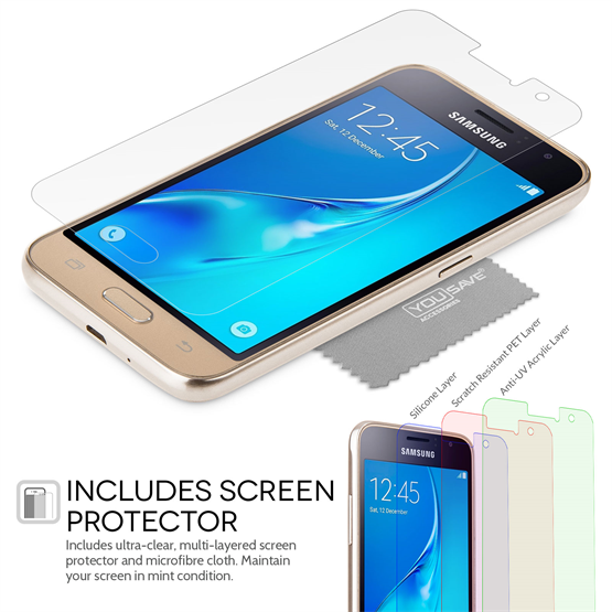 Yousave Accessories Samsung Galaxy J1 (2016) Ultra Thin Clear Gel Case