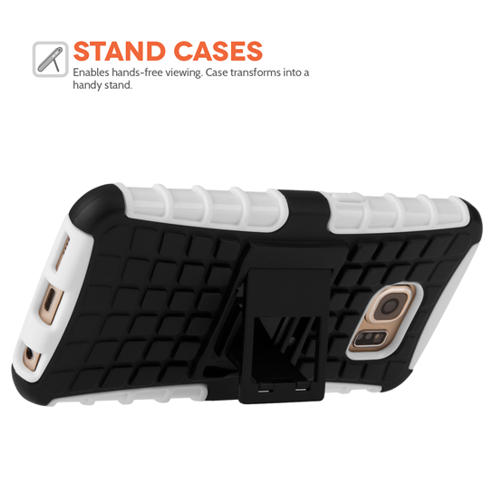 YouSave Accessories Samsung Galaxy S6 Stand Combo Case -White