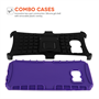 YouSave Accessories Samsung Galaxy S6 Edge Stand Combo Case - Purple