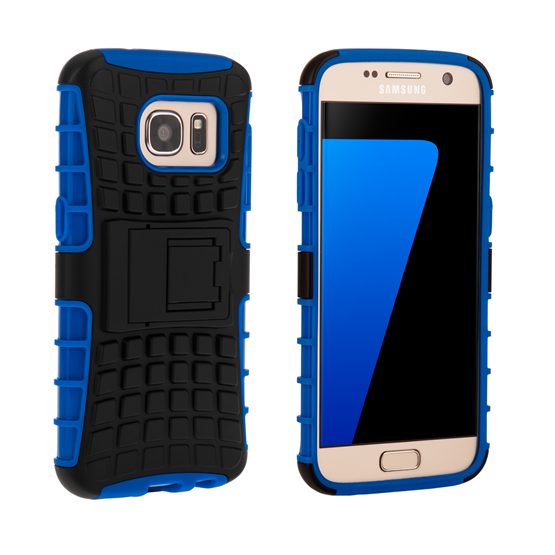 Yousave Accessories Samsung Galaxy S7 Stand Combo Case - Blue / Black