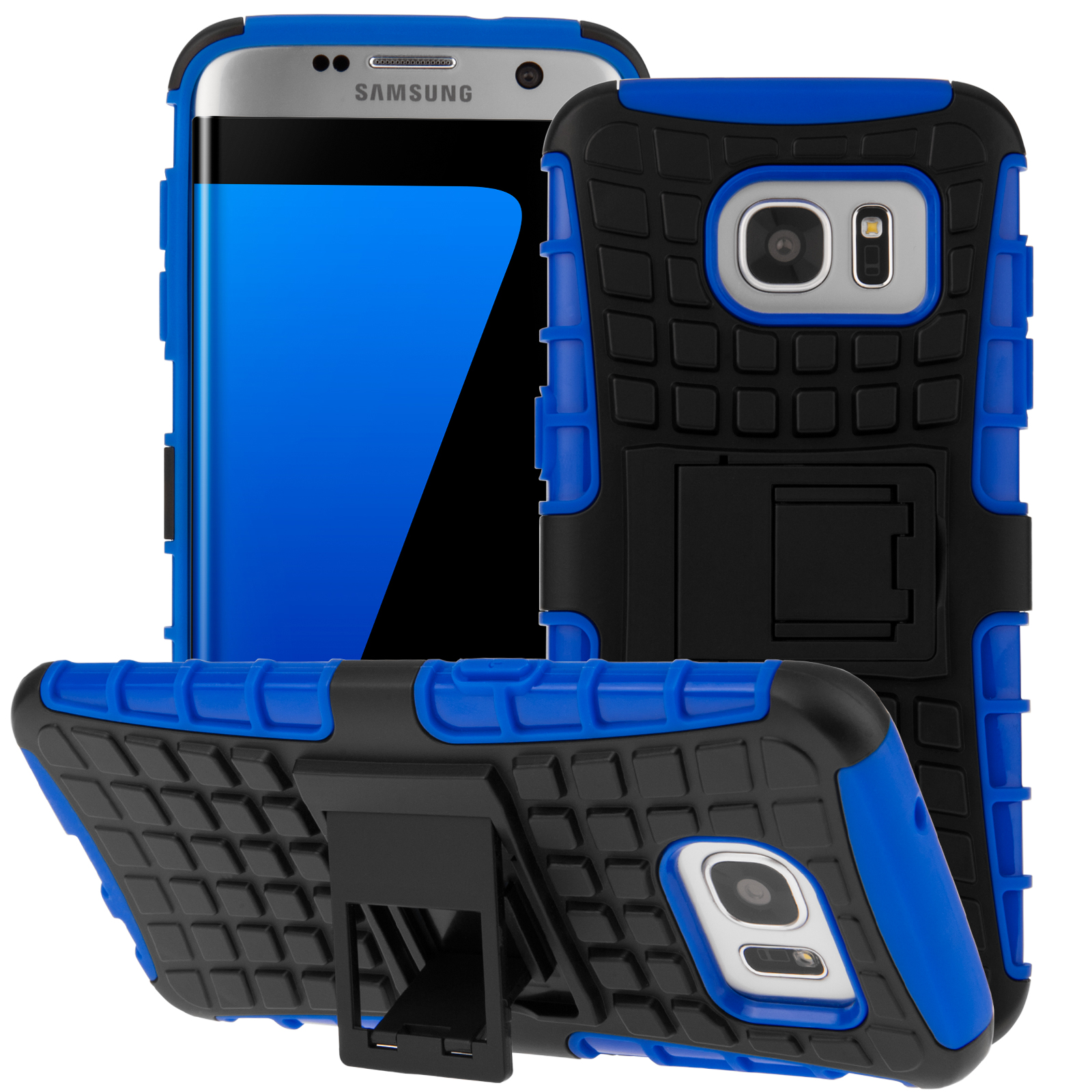 sports shoes 3bbaf b780e YouSave Accessories Samsung Galaxy S7 Edge Stand Combo Case - Blue ...