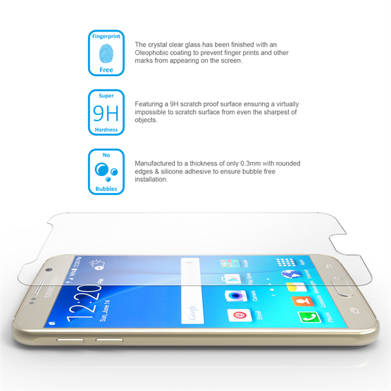 Yousave Accessories Samsung Galaxy S6 Glass Screen Protector - Twin Pack