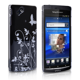 Yousave Accessories Sony Xperia X12 Black/Silver Butterfly IMD Case