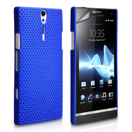 Yousave Accessories Sony Xperia S Blue Mesh Case