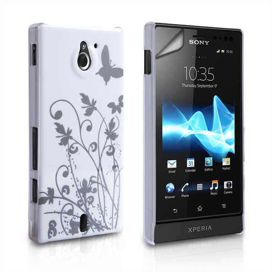 Yousave Accessories Sony Xperia Sola IMD White Case