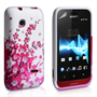 Yousave Accessories Sony Xperia Tipo Floral Bee Pattern Gel Case