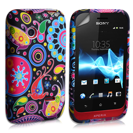 Yousave Accessories Sony Xperia Tipo Jellyfish Pattern Gel Case