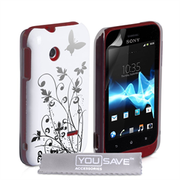 Yousave Accessories Sony Xperia Tipo IMD White Case