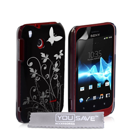 Yousave Accessories Sony Xperia Tipo IMD Black Case