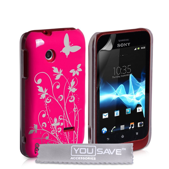 Yousave Accessories Sony Xperia Tipo IMD Hot Pink Case