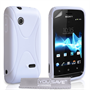 Yousave Accessories Sony Xperia Tipo X-Line White Case