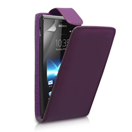 Yousave Accessories Sony Xperia J Purple Flip
