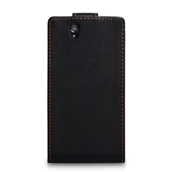 Yousave Accessories Sony Xperia Z Leather Effect Flip Case - Black