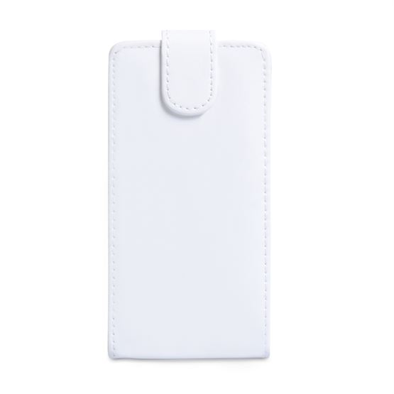 Yousave Accessories Sony Xperia Z PU Flip White Case