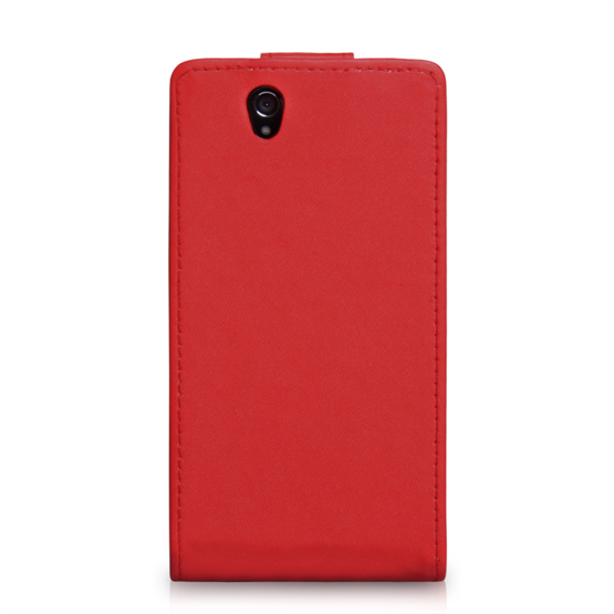 Yousave Accessories Sony Xperia Z PU Flip Red Case