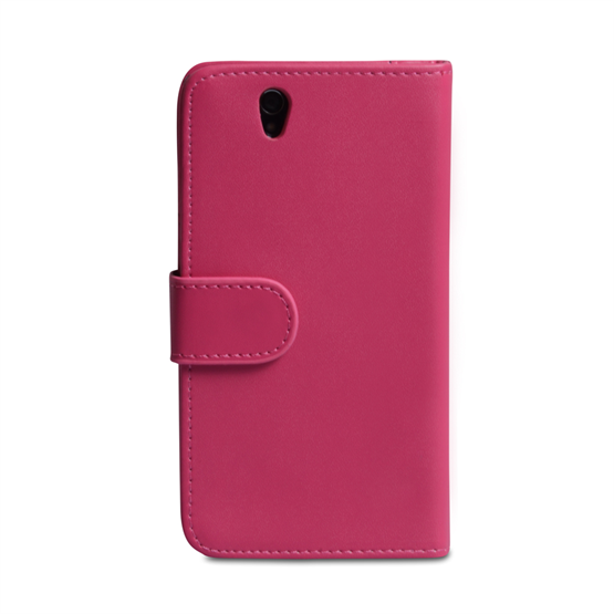Yousave Accessories Sony Xperia Z PU Wallet Hot Pink Case