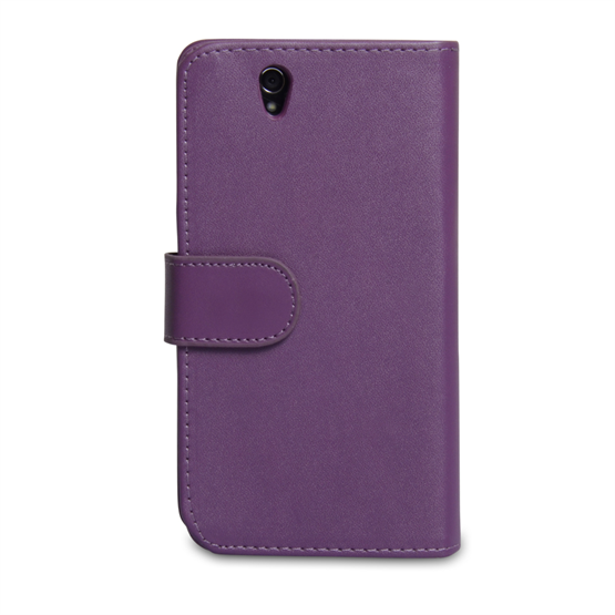 Yousave Accessories Sony Xperia Z PU Wallet Purple Case