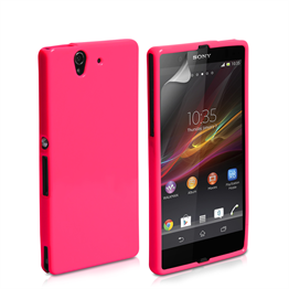 Yousave Accessories Sony Xperia Z Gel Pink Case