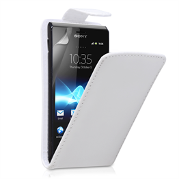 Yousave Accessories Sony Xperia E PU Flip White Case