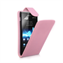 Yousave Accessories Sony Xperia E PU Flip Baby Pink Case