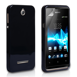 Yousave Accessories Sony Xperia E Gel Black Case
