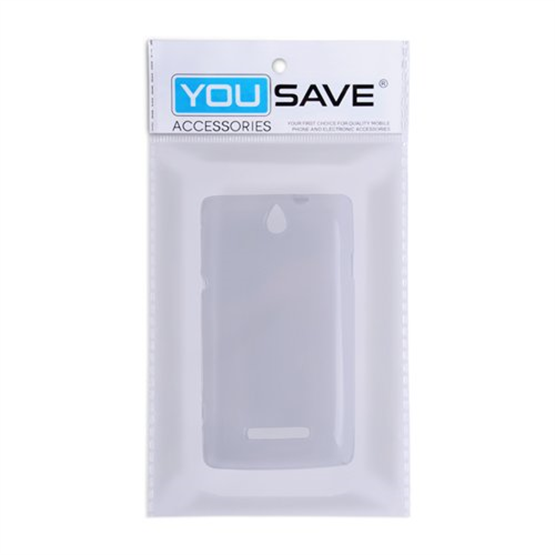 Yousave Accessories Sony Xperia E Clear Tpu Gel