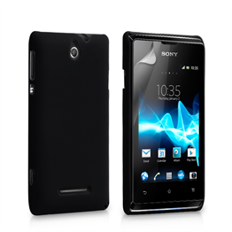 Yousave Accessories Sony Xperia E Hybrid Black Case