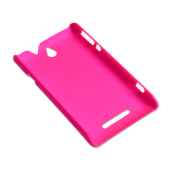 Yousave Accessories Sony Xperia E Hybrid Hot Pink Case