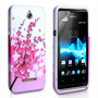 Yousave Accessories Sony Xperia E Floral Bee Pink Case