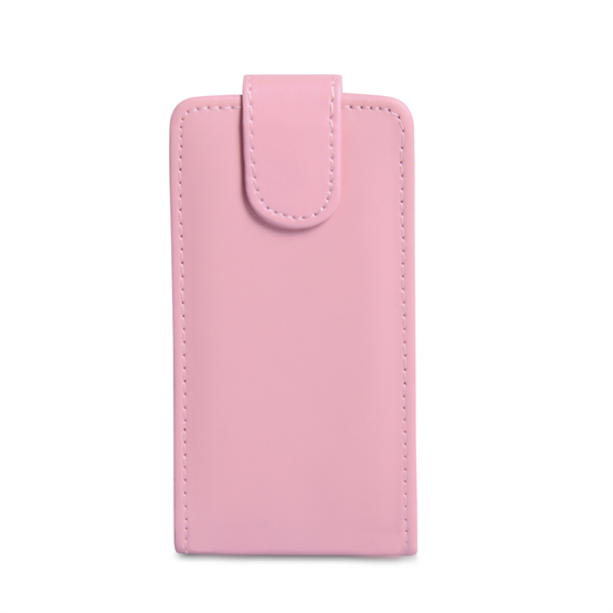 Yousave Accessories Sony Xperia J PU Flip Baby Pink Case