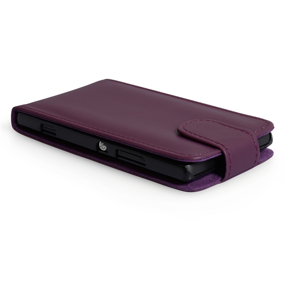 Yousave Accessories Sony Xperia SP PU Flip Purple Case