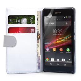 Yousave Accessories Sony Xperia SP PU Wallet Black Case