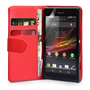 Yousave Accessories Sony Xperia SP PU Wallet Red Case