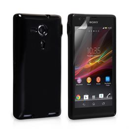 Yousave Accessories Sony Xperia SP Gel Black Case
