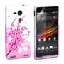 Yousave Accessories Sony Xperia SP Floral Bee Pink Case