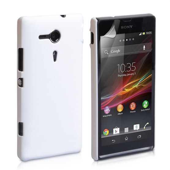 Yousave Accessories Sony Xperia SP Hybrid White Case