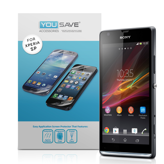 Yousave Accessories Sony Xperia SP Screen Protectors X 5 - Clear