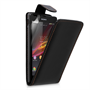 Yousave Accessories Sony Xperia S Leather Effect Flip Case - Black