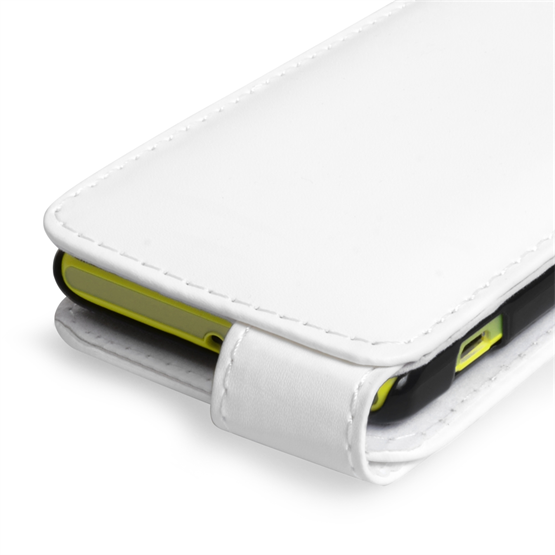 Yousave Accessories Sony Xperia M PU Flip White Case