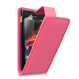 Yousave Accessories Sony Xperia M PU Flip Hot Pink Case