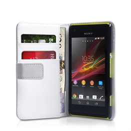 Yousave Accessories Sony Xperia M PU Wallet White Case