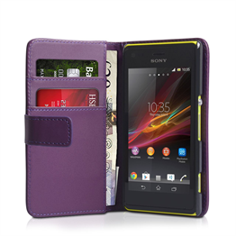 Yousave Accessories Sony Xperia M Purple PU Leather Wallet