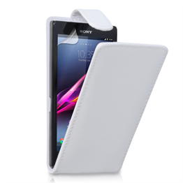 Yousave Accessories Sony Xperia Z Ultra PU Flip White Case