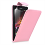 Yousave Accessories Sony Xperia Z Ultra PU Flip Baby Pink Case