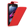 Yousave Accessories Sony Xperia Z Ultra Leather-Effect Flip Case - Red