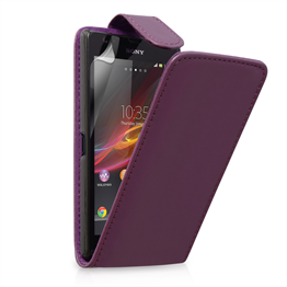 Yousave Accessories Sony Xperia Z Ultra Leather-Effect Flip Case - Purple