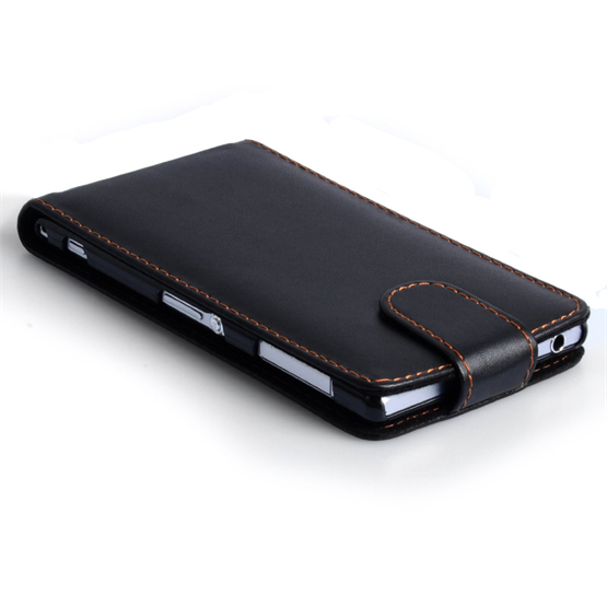 Yousave Accessories Sony Xperia Z1 Leather-Effect Flip Case - Black
